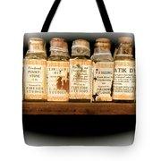 Vintage Dye Bottles Tote Bag
