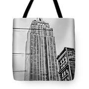 Vintage Empire State Building Tote Bag