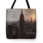 Vintage Empire State Building Tote Bag