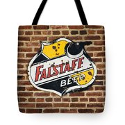 Vintage Falstaff Beer Shield Dsc07192 Tote Bag