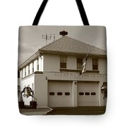 Congers, New York - Vintage Firehouse Tote Bag