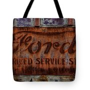 Vintage Ford Authorized Service Sign Tote Bag