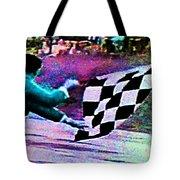 Vintage Formula 1 Race Checkered Flag  Tote Bag