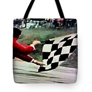 Vintage Formula Race Checkered Flag Tote Bag