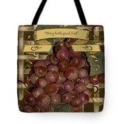 Vintage Fruit Of The Vine Tote Bag