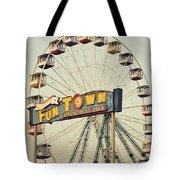 Vintage Funtown Ferris Wheel Tote Bag