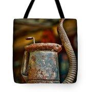 Vintage Garage Oil Can Tote Bag