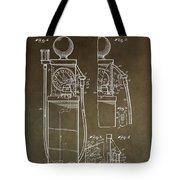 Vintage Gas Pump Patent Tote Bag