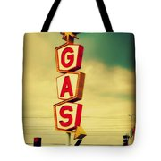 Vintage Gas Sign Tote Bag