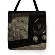 Vintage Ge Radio Tote Bag
