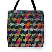 Vintage Geometric Cubes Tote Bag