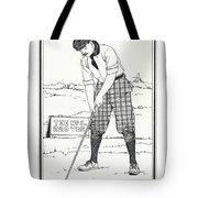 Vintage Golfer 1900 Tote Bag