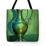 Vintage Green Pewter Pitcher Tote Bag
