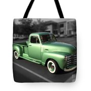 Vintage Green Chevy 3100 Truck Tote Bag
