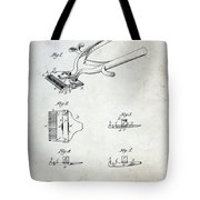 Vintage Hair Clippers Patent Tote Bag