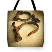 Vintage Handcuffs Tote Bag