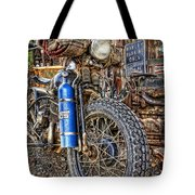 Vintage Harley With Nos Tote Bag