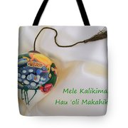 Vintage Hawaiian Christmas Bulb Tote Bag