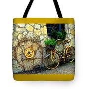 Antique Store Hay Rake And Bicycle Tote Bag