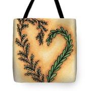 Vintage Heart Wreath Tote Bag
