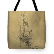 Vintage Helicopter Patent Tote Bag