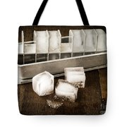 Vintage Ice Cubes Tote Bag by Edward Fielding