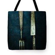 Vintage In Blue Tote Bag