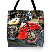 Vintage Indian Motorcycle - Live To Ride Tote Bag