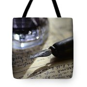 Vintage Ink Pen Tote Bag