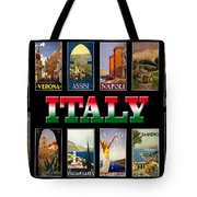 Vintage Italy Travel Posters Tote Bag