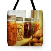 Vintage Jars On A Kitchen Window Tote Bag
