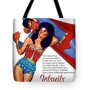 Vintage Jetsuit Advertisement Tote Bag