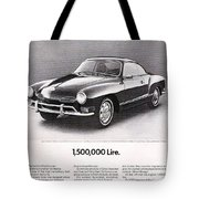 Vintage Karmann Ghia Advert Tote Bag