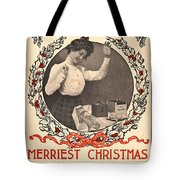Vintage Kodak Christmas Card Tote Bag