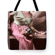 Vintage Lady Rose  Limited Sizes Tote Bag