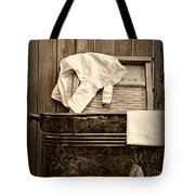 Vintage Laundry Room In Sepia	 Tote Bag