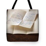 Vintage Letter Tote Bag