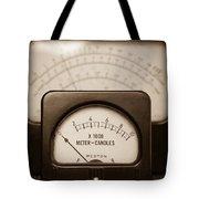 Vintage Light Meter Tote Bag by Edward Fielding