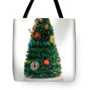Vintage Lighted Christmas Tree Decoration Tote Bag