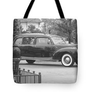 Vintage Lincoln Limo Black N White Tote Bag