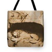 Vintage Lion Of Lucerne Tote Bag