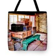 Vintage Luggage Room Tote Bag