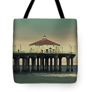 Vintage Manhattan Beach Pier Tote Bag