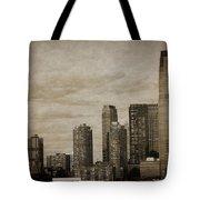 Vintage Manhattan Skyline Tote Bag