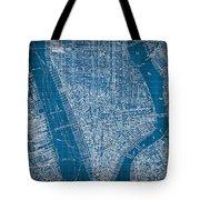 Vintage Manhattan Street Map Blueprint Tote Bag