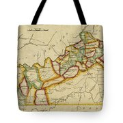 Map Of Kentucky 1812 Tote Bag