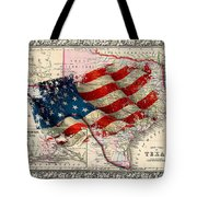 Vintage Map Of Texas 2 Tote Bag
