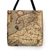 Vintage Map Of Wales 1633 Tote Bag