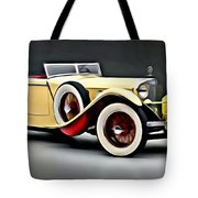 Vintage Mercedes Convertible Tote Bag
