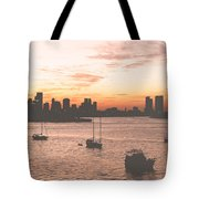Vintage Miami Skyline Tote Bag